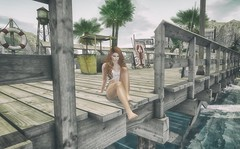 crystal blue persuasion (Ms. Rainfall) Tags: secondlife avatar redhead ginger beach pier bajacove bajanorte maitreya catwa truth candydoll crystal blue persuasion