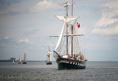 Fair Jeanne (13skies) Tags: fairjeanne tallships lakeontario burlingtoncanal hamiltonon water sails sailing ahoy daysofold bluesky 13skies ships celebration canadaday fun sonyalpha99