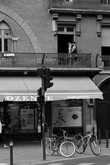 Love in Toulouse (gaillardou) Tags: noir noiretblanc blanc black white canon amateur street photo photography toulouse ville rue passant amour bébé amoureux love french france français française jeune pose