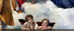 IMG_5870EA Raphael (Raffaello Sanzio) 1483-1520. Rome. The Sistine Madonna. 1513. Dresde. Gemäldegalerie Alte Meister. (jean louis mazieres) Tags: peintres peintures painting musée museum museo deutschland germany allemagne dresde gemäldegaleriealtemeister raphaël