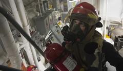 170701-N-FQ994-051 (CNE CNA C6F) Tags: ussrossddg71 ddg71 ross sailors norwegiansea itt firefighters investigators generalquarters
