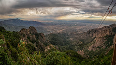 Sandia Peak Pano (Ed Rosack) Tags: albuquerque travel cloud sky ©edrosack vacation newmexico sandiapeaktramway usa cloudy