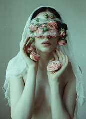 The Suffering (laura makabresku) Tags: laura makabresku photography pale flowers roses skin portrait woman delicate