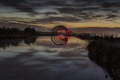 Stargate Pt.3 (MarkWaidson) Tags: falkirk wheel canal water night clouds reflection