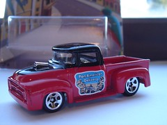 HOT WHEELS 1956 FORD F-100 CUSTOM PICK-UP NO5 PAN-AMERICAN DELIVERY 1/64 (ambassador84 OVER 11 MILLION VIEWS. :-)) Tags: hotwheels 1956fordf100 diecast ford pickuptruck