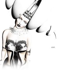 ca 250 (Čαℓуρѕσ Ẳρρℓєωнутє) Tags: zibska r2 whitewidow tattoo makeup sl secondlife fashion scifi virtual hair crown punk we3roleplay powderpack woman pixel photography art hairfairsl theliaisoncollaborative kinklyevent