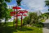 """""""Regenwald"""" von Franz Strauss (www.textbox.at) Tags: botanischergarten kunst schirme steiermark artwork rot umbrellas"""