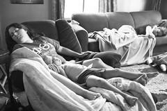 188/365 (local paparazzi (isthmusportrait.com)) Tags: 365project fujifilmx100s fuji x100s fujix100s lopaps pod 2017 redskyrocketman localpaparazzi isthmusportrait people contrast raw fujiraw pse7 photoshopelements7 light shadows sharpness detail clarity iso1600 noise grain black white blackandwhite blanco negro blancoynegro candid sleeping couch sofa sleepover
