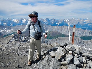 Mt Rae Summit Scramble - Ben at summit cairn
