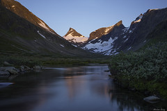 """Nature is Calling"" (ScenicMotion) Tags: norway norge jotunheimen hurrungane ringstind ringsdalen alpenglow river mountain alpine sunset breathtakinglandscapes leebigstopper"