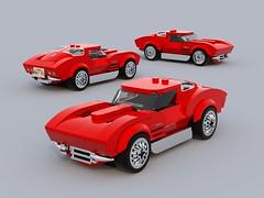 1963 Corvette Sting Ray (brandcamacho) Tags: corvette 1963 chevy chevrolet sting ray split window lego speed champions city 6 wide sports car blurerender