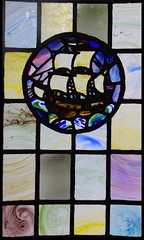 Galleon in full sail (1920) (Simon_K) Tags: ely cambridgeshire cambs eastanglia cathedral window glass stained sgm nikon d5300