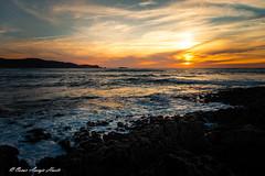 Atardecer en Verdicio (OscarAsenjoHuete) Tags: europa carretera mar españa asturias arena playadeverdicio medianoche