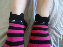 Black Pink Striped Ankle Socks (sockstargirl) Tags: footfetish feet femalefeet sockfetish socks sexy smelly sweaty sexyfeet sexysocks stinky