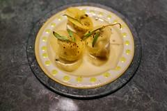 Sea Bas with Caviar, Potatoes with Butter and Bataks Berries (Premshree Pillai) Tags: tastingmenu dinnerforone food restaurant dinner barcelona spain barcelonafeb17
