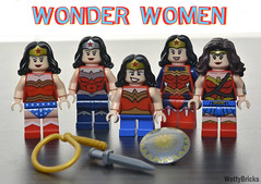 Wonder Woman Collection (WattyBricks) Tags: diana prince wonder woman dc comics superheroes minifigures