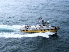British Columbia ~ pilot boat (karma (Karen)) Tags: canada britishcolumbia cruising hollandamerica escortboat wake iphone topf25 cmwd