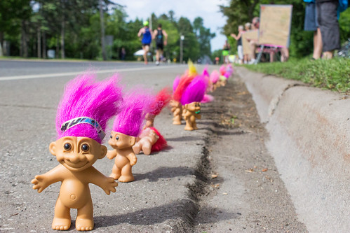 Troll Doll Cheering Squad by TravelGardenEat, on Flickr