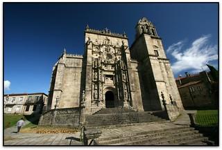Fachada, Real Basílica de Santa María a Maior, Pontevedra (Galicia, España)