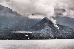 Smoky and cloudy day (lsttrip1) Tags: cloud centralamerica centroamerica atitlan lake lagoatitlan guatemala