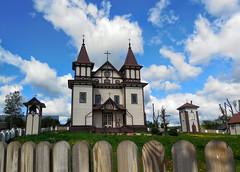belarus (vandrouki) Tags: belarus architecture church wood rural беларусь паланечка касцёл