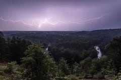 River Current (Aaron Springer) Tags: michigan northernmichigan highrollaway highbanks horseshoebend manisteeriver storm lightning weather scenicoverlook outdoor nature landscape nightphotography