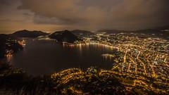 Lake Lugano (Ettore Trevisiol) Tags: ettore trevisiol nikon d7200 nikkor 18 70 ticino lugano swiss svizzera monte brè bluehour night landscape panorama lauis blue hour storm deluge cassarate thunderstorm flood clouds cloud sunset sigma 10 20