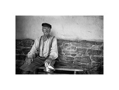 Udo Kier (Jan Dobrovsky) Tags: tomášikovo portrait contrast kodaktrix400t monochrome slovakia trix thepaintedbirdmovie grain udokier leicam6 analog document film