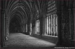 Portogallo # 10      (Monastero di Batalha) (celestino2011) Tags: bn archi luce colonne monasterodibatalha portogallo galeríadelclaustro