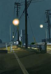 c_0132 (takeshimiyasaka) Tags: 夜 night life light illustrator illustration town 宮坂猛 painting ominous