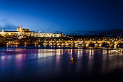 Prague la nuit (lecointelaetitia) Tags: prague europe nuit night longexposure expositionlongue nikon couleurs colors urban urbanlandscape city cityscape sunset