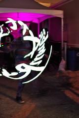 Words Coming @ You - 3 D Art (Joey Z1) Tags: wordscomingatyou actionshot artbyjumbie holographic3dart wearable3dart nightscene actionnightshot jumbiesstudio laasseenbyjoeyz1 lalife lanights polychromatic pentaxks1 bylaphotolaureatejoeyzanotti