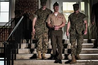Marine Major Mark Thompson sent to the brig for 90 days.