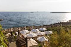 Gallipoli, lungomare con lounge bar (Angelo M™) Tags: gallipoli puglia lungomare mare spiaggia beach seaside sea landscape paesaggio tramonto sunset italia italy