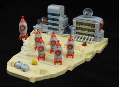 Rocket Launch Site F3-L1X / Quadrant 6 (justin_m_winn) Tags: lego moc microscale rocket launch site f3l1x quadrant 6