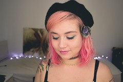 (shinebrightx) Tags: tattoo tattoos tatuagem tatooedgirl girl cute pinkhair colorful colorfulhair