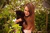 Sweet memory... (Maria Godfrida) Tags: smileonsaturday preciouspets pet pets cat black nature spring portrait woman young green blossoms garden 7dwf