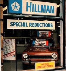 1976 HILLMAN / SIMCA DEALERS SHOWROOM WINDOW (Midlands Vehicle Photographer.) Tags: 1976 hillman simca dealers showroom window 1100