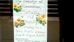 Library sign - SS (Maenette1) Tags: sign door spiespubliclibrary beauty towns menominee uppermichigan signsunday flickr365