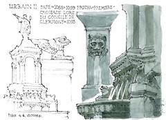 Clermont dessine, 2017 (gerard michel) Tags: france auvergne clermontferrand fontaine sketch croquis aquarelle watercolour