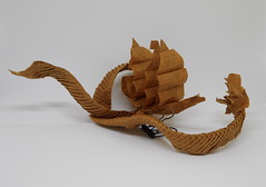 Stormy Seas (Bart Davids) Tags: origami paper complex sea ship snake serpent ocean wreck pirate crease pattern
