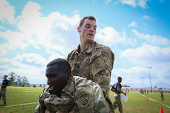 060117_D1_Paratroopers participate in the Tug-of-War competition at Ritz-Epps Physical Fitness Center during All American Week 100, May 22. (FortBraggParaglide) Tags: spcjaperrinmobley paratrooper 2ndbattalion 319thairbornefieldartilleryregiment 2ndbrigadecombatteam 82ndairbornedivision 1stltchristopherkittle bravocompany 501stparachuteinfantryregiment 1stbrigadecombatteam allamericanweek 100combatfitnesstest pikefield