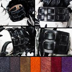 Leather Bracelet - Dares (Xansa Leder) Tags: leder leather armband bracelet wristband handgemacht handarbeit handmade handwork handcrafted manschette