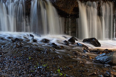 Underneath (SunnyDazzled) Tags: waterfall wallkill river newyork stones water flowing longexposure evening nature