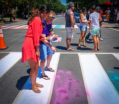 2017.06.10 Painting of #DCRainbowCrosswalks Washington, DC USA 6334