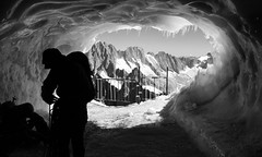 3.842 meters ( in Explore) (MatthewPilgrims) Tags: mountain 3842 ice air black white bw blackwhite climbing explore silhouette