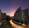 Searchlights (HakWee) Tags: architecture singapore sunset sunrays hdb vertorama