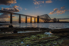 Sunset over the Forth (Explore 17/06/17 #73) (andyrousephotography) Tags: forthrailbridge forthroadbridge queensferrycrossing bridges firthofforth southqueensferry evening sun sunset golden clouds warmth longexposure le leefilters ndgrads andyrouse canon eos 5d mkiii ef1740mmf4l
