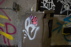 Enzi, Oc (NJphotograffer) Tags: graffiti graff new jersey nj abandoned building urban explore enzi sticker oc mhs crew