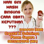 Jual Crystal X Asli Nasa Jogja 082329670549 adalah obat keputihan dari PT Natural Nusantara untuk membantu para wanita merawat organ kewanitaan dan sekaligus mengobati berbagai masalah dan penyakit yang biasanya menghampiri organ kewanitaan para kaum hawa thumbnail
